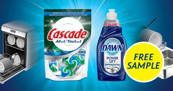 Free Sample of Cascade All-in-One Pacs and Dawn Ultra Original