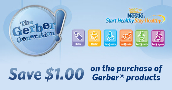 Save $1 on the Purchase of a Gerber Product