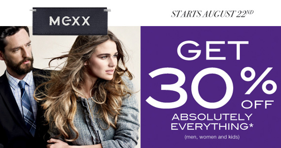 Save 30% on Everything at Mexx