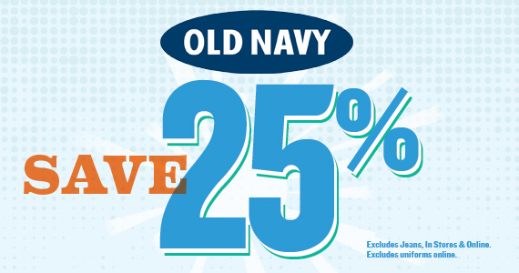 Save 25% at Old Navy This Weekend