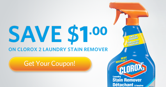 Save $1 on Clorox 2 Laundry Stain Remover
