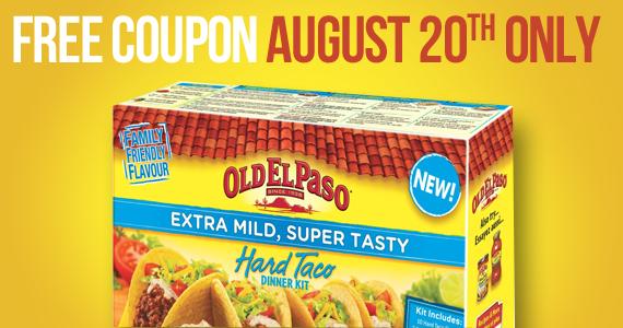 Free Coupon for New Spicy Fajita or Extra Mild Hard Taco Dinner Kit