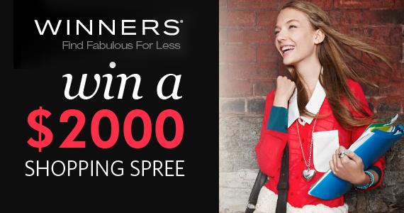 Win a $2,000 Winners Shopping Spree